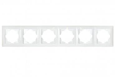 Gunsan, 01281100000147, Visage, 6-fach Rahmen, für 6 Steckdosen, Schalter, Dimmer, Weiss, Erkelenz